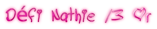 Défi Nathie 13or