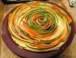 Quiche aux courgettes et carottes