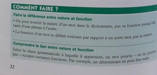 3) Catégories grammaticales