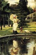 Jacques In An English Garden - James Jacques Joseph Tissot - www.jamestissot.org