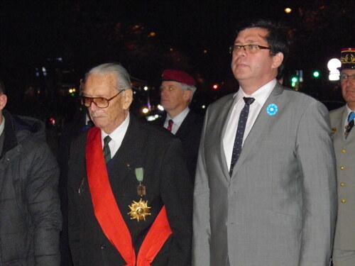 * Cérémonie à l'Arc de Triomphe pour la célébration de la création de l'Ordre de la Liberation.