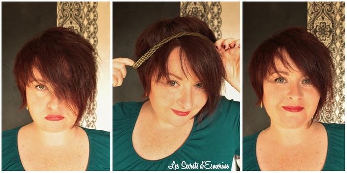Headband, retro, chic, accessoire, cheveux