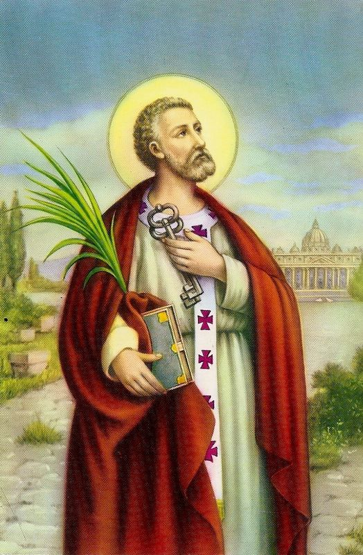 Saint Pierre. Pape (1 er) et Saint Apôtre (1er s.)