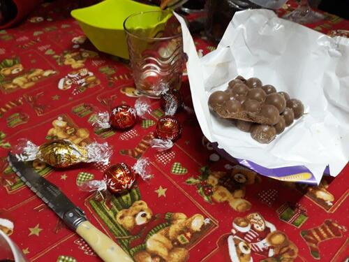 Et chocolats...