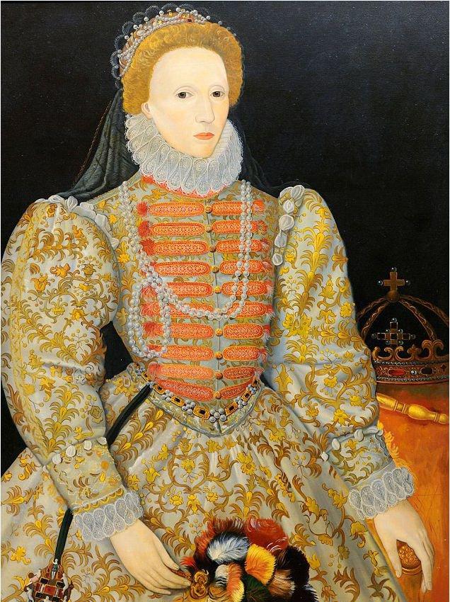 Ce portrait d'Elizabeth I peint par un artiste inconnu vers 1575 est appelé Darnley Portrait