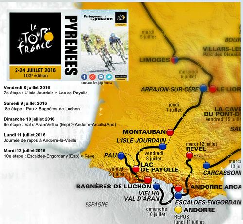 Tour de France 2016 dans les Pyrénées