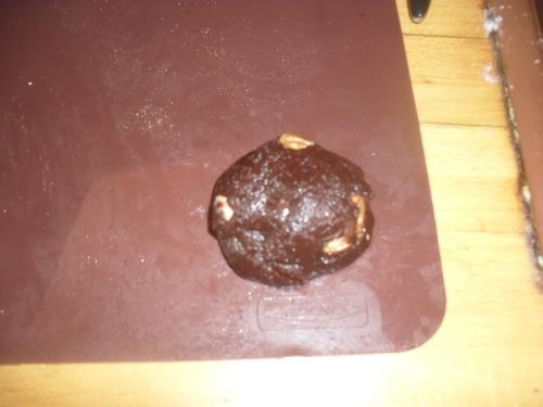 """Cookies chocolat /caramel au beurre salé pour """"un tour en cuisine"""" tour n°375"""