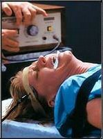 a woman undergoing electroshock