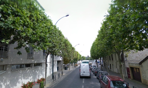 Les rues du quartier en septembre 2008
