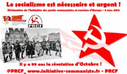 99e anniversaire de la Révolution d'Octobre : « Le socialisme est nécessaire et urgent » – déclaration de l'IC wpe