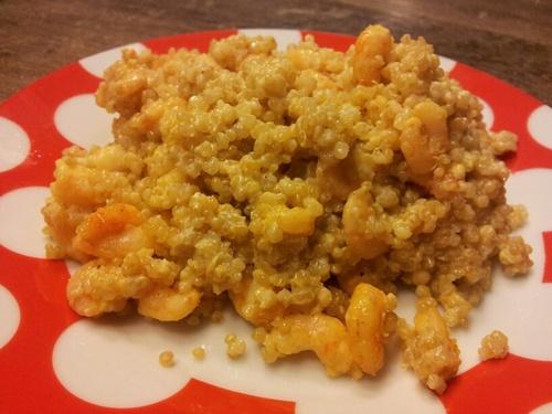 Curry de crevettes au Quinoa