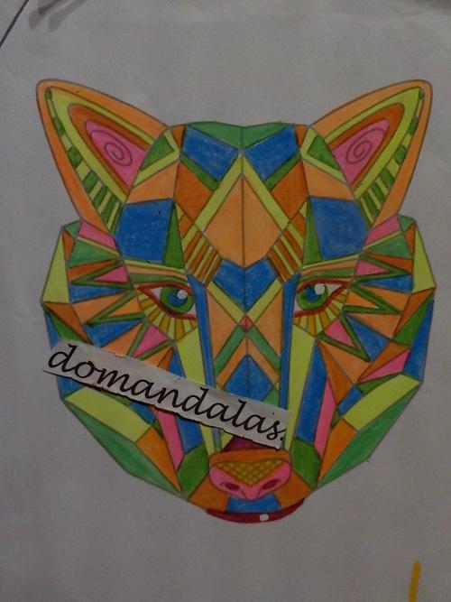DOMANDALAS coloriage renard