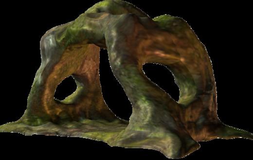 Tubes arches pierre/bois