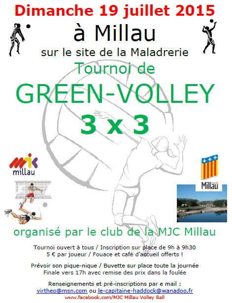 Green Volley 19 juillet Millau (3x3)