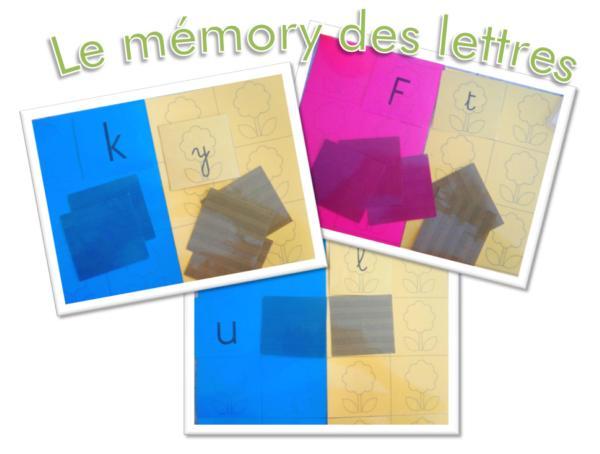 Mémory des lettres