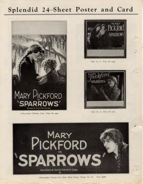 SPARROWS POSTERS 1926