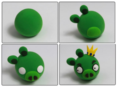 "Aimants ""Angry Birds"" en pâte FIMO"