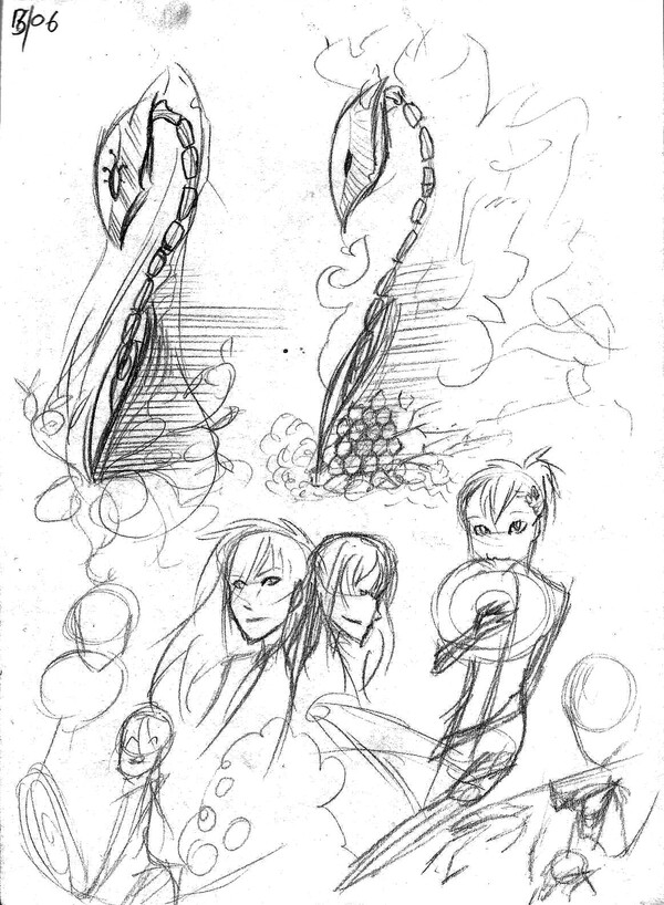 Page carnet croquis
