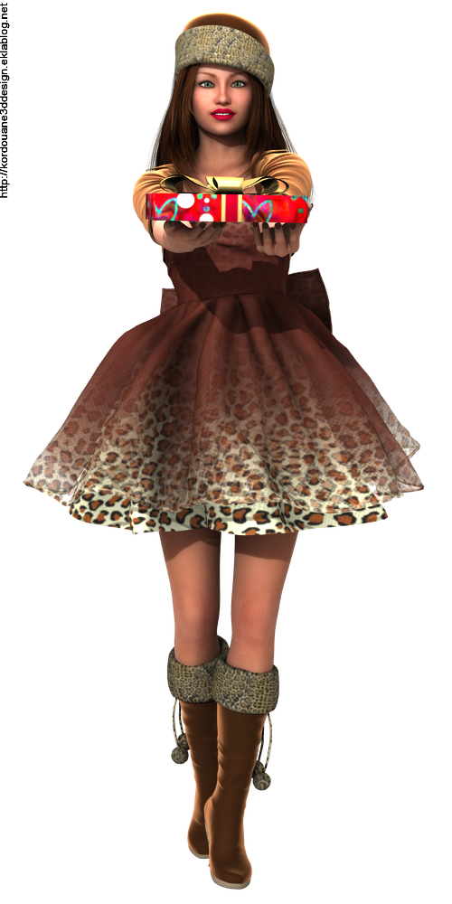 Tube femme mère Noël organdi léopard