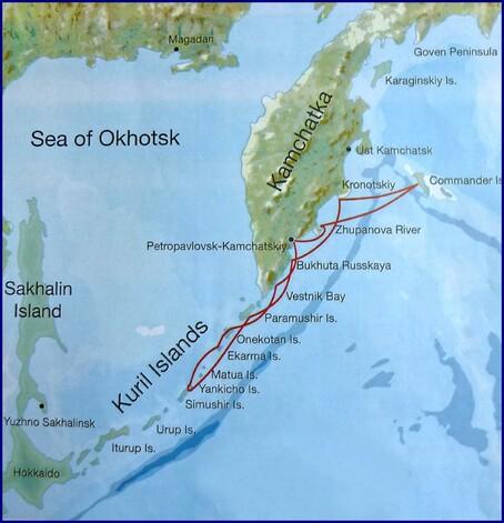 Navigation le long de la Ceinture de Feu du Pacifique dans l'extrème orient russe