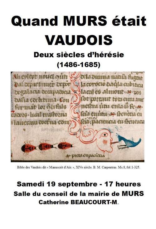 """Conférence : """"Quand Murs était Vaudois"""""""