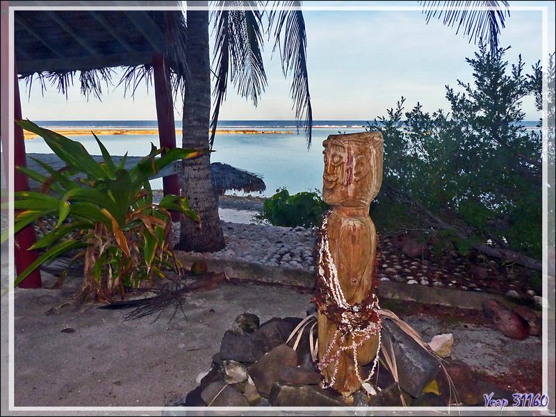 Le Tiki protecteur de la Pension Kuriri - Maupiti - Polynésie française