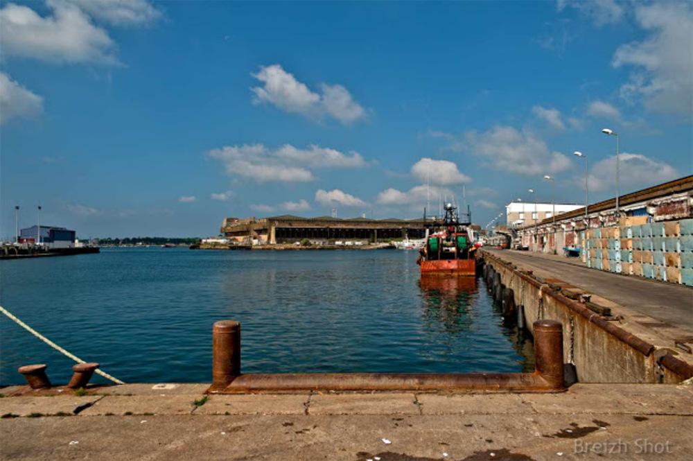 Lorient Keroman- quais port de pêche