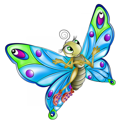 TUBES PAPILLONS PNG....GROS BISOUS A VOUS MES PTITS ANGES