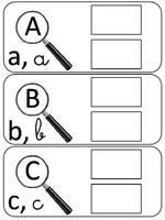 alphabet loupe