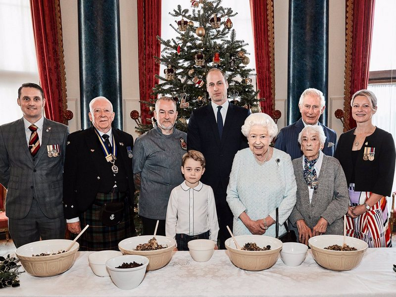 Supporting the 'Together at Christmas' Campaign at Buckingham Palace