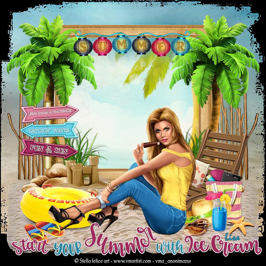 "Ma réalisation du tuto ""start your summer"""