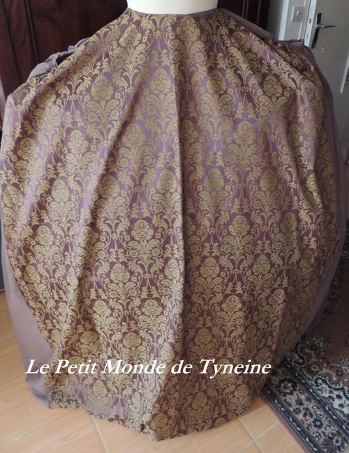 Robe 18ème à la Française - Jupe de dessous