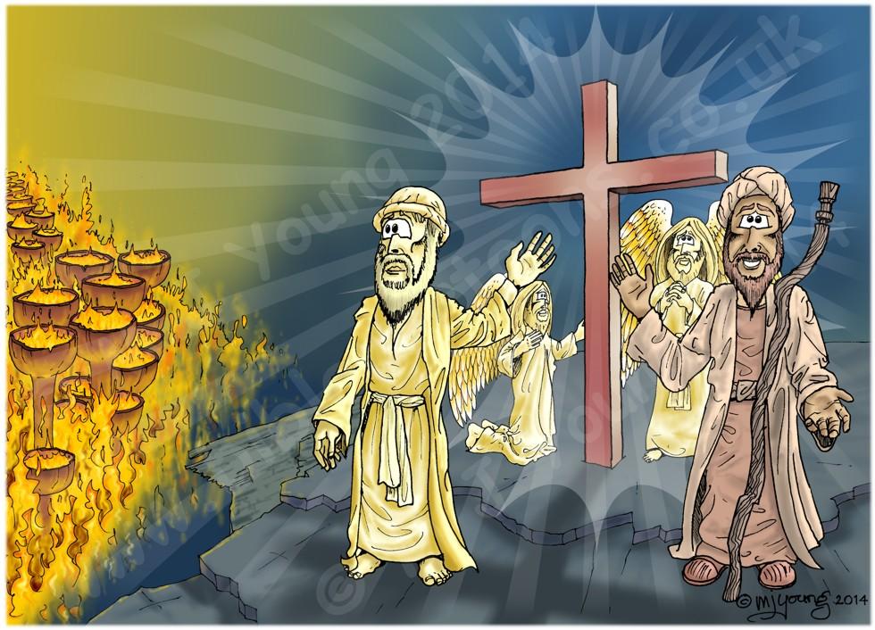 Luke 16 - Rich man and Lazarus - Scene 07 - The Cross (Colour version)