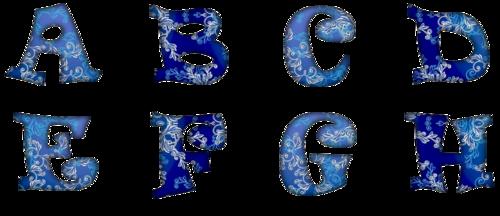 alphabet bleu