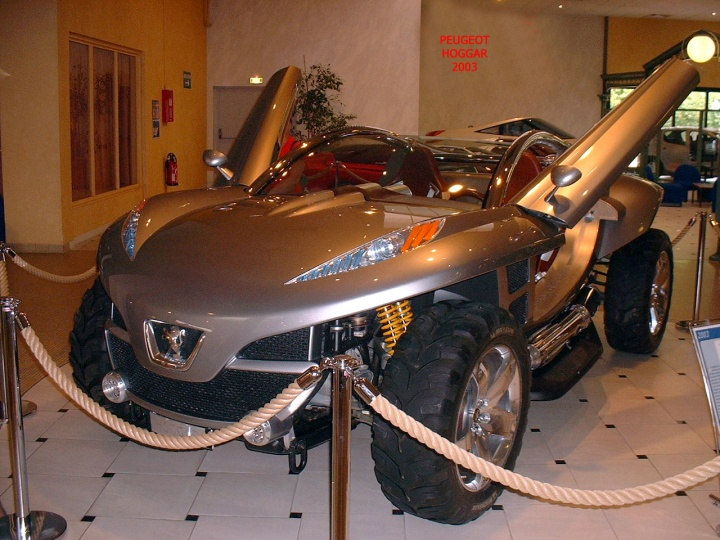 les concept cars peugeot