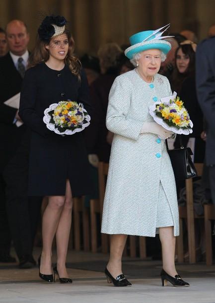 La reine, le prince et la princesse à York