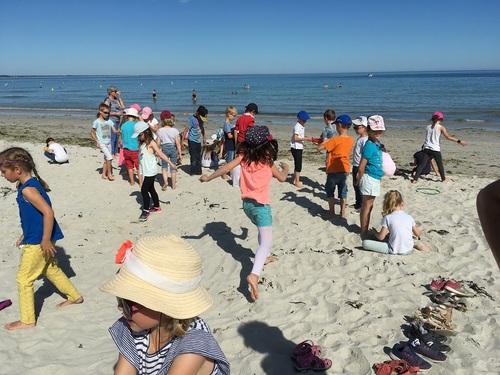 récréation sur la plage