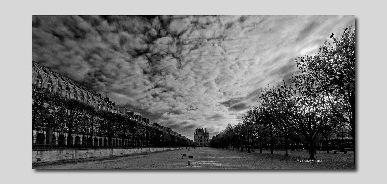 Tuileries Chaises avec vue