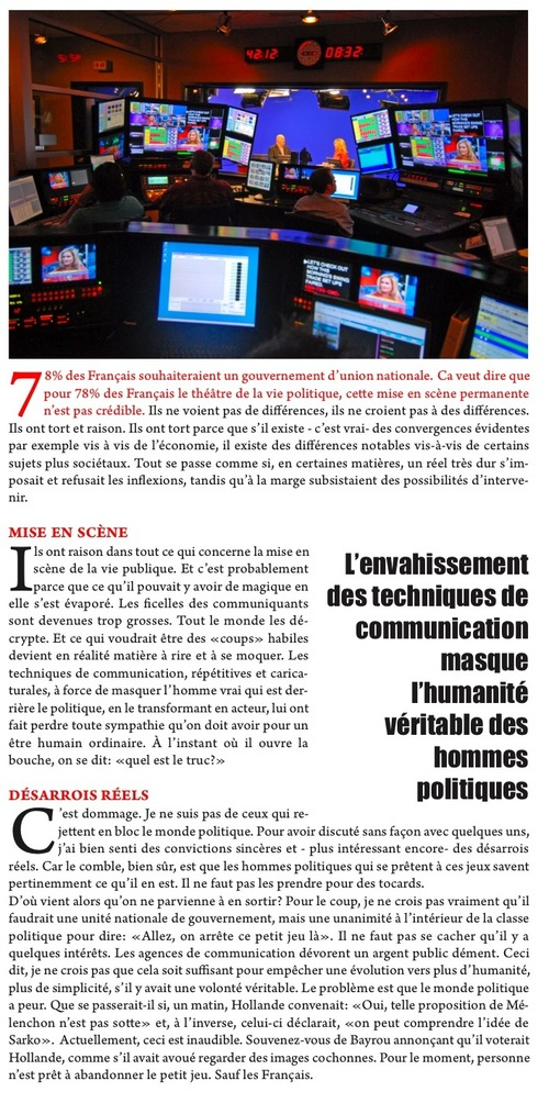 POURQUOI LES FRANCAIS VEULENT L'UNION NATIONALE