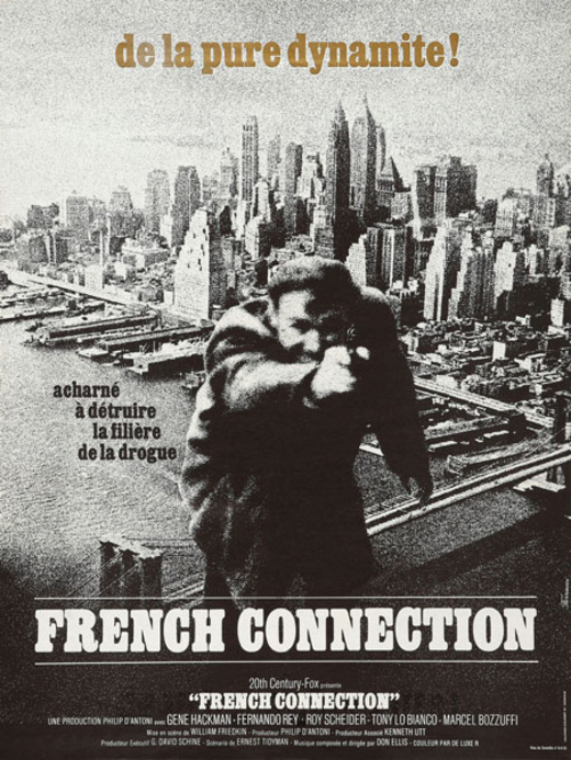 FRENCH CONNECTION 1972 AFFICHE FRANCAISE