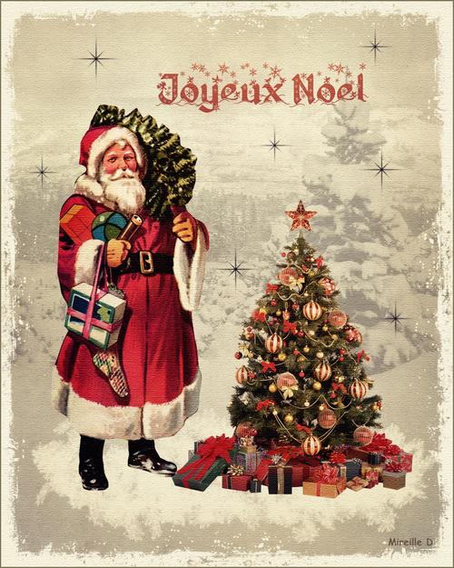 Carte de Joyeux Noël (Style Ancien)
