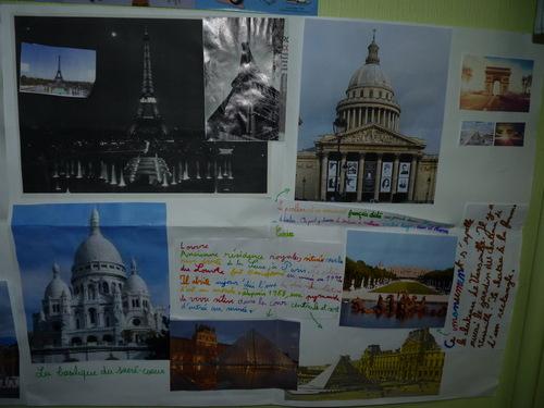 Lettre et travail sur Paris de la classe des CE2 d'Issy Les Moulineaux