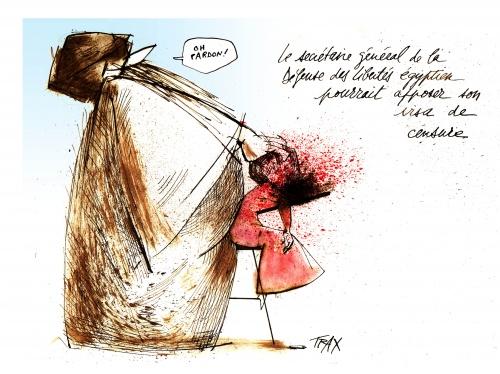 Adam (vêtu), Doaa El Adl, dessinatrice égyptienne, prophète