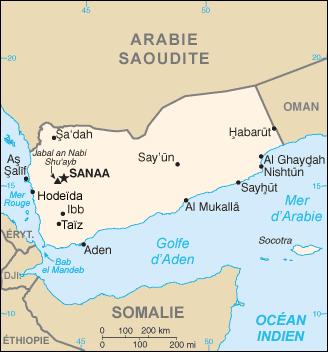Yemen carte
