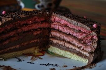 Rainbow cake pink