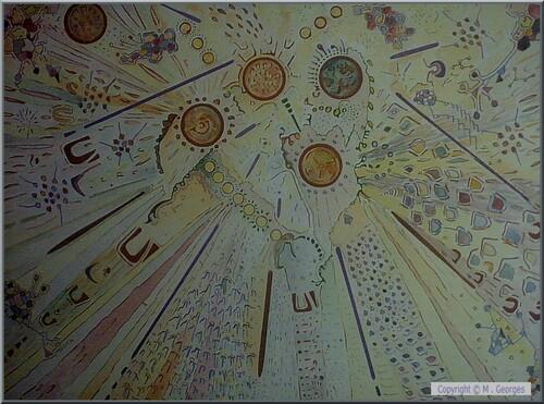 Le vieillard aux six lunes . Peinture de M . Georges ( Joden )