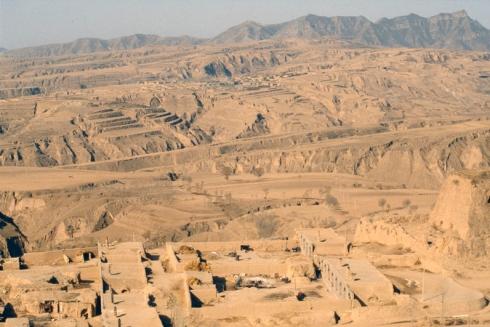 Plateau de Loess dans la provionce de Shaanxi