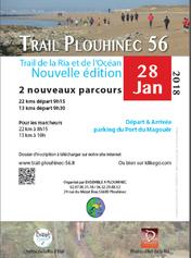 Trail de la Ria et de l'Océan - Plouhinec - Dimanche 28 janvier 2018
