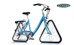 Bicyclette roues triangulaires