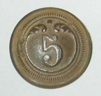 bouton du 5ème avers